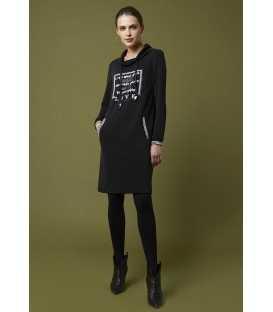 Vestido Negro Luis Civit Mujer