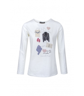 Camiseta Blanca Carmela Rosso Mujer