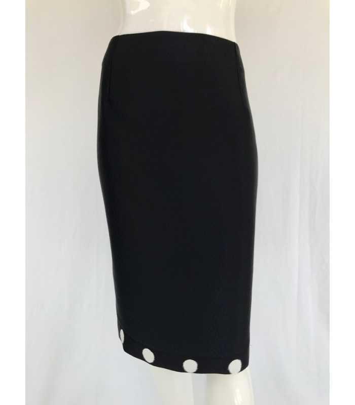 8f495e51dd Falda Negra Mujer Carmela Rosso
