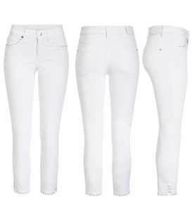 Pantalón Blanco Tobillero Mujer Cambio