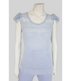 Top Azul Mujer Tricot Chic
