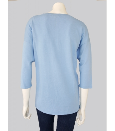 Suéter Azul Mujer Pisonero