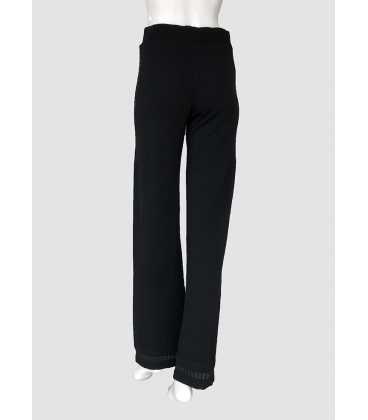 Pantalón Negro Mujer Tricot Chic