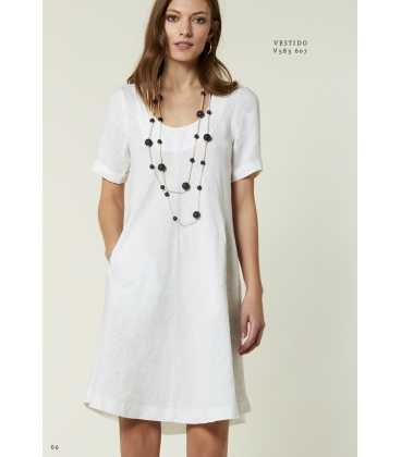 Vestido Lino Mujer Civit