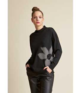 Suéter Negro Mujer Piero Moretti