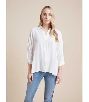 Blusa Blanca Mujer Elena Miro