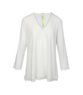 Blusón Blanco Brunella Mujer