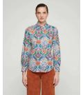 Camisa Estampada Multicolor Mirto Mujer