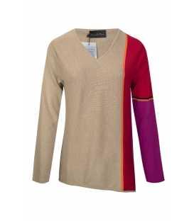 Suéter Camel Carmela Rosso Mujer
