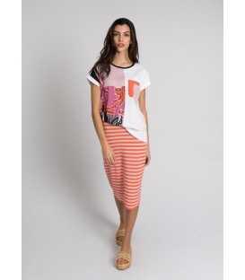 Camiseta Estampada Pisonero Mujer