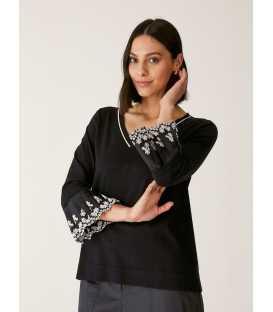 Suéter Negro Elena Miro Mujer