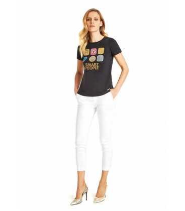 Camiseta Negra Ean13 Mujer